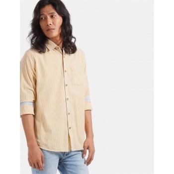 True Blue Men Casual Wear Yellow Shirt
