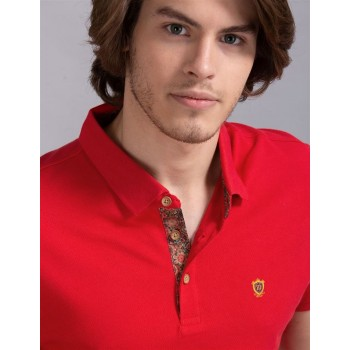 True Blue Men Casual Wear Red T-Shirt