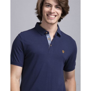 True Blue Men Casual Wear Royal Blue T-Shirt