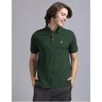 True Blue Men Casual Wear Dark Green T-Shirt