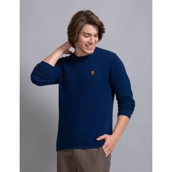 True Blue Men Casual Wear Royal Blue Sweater