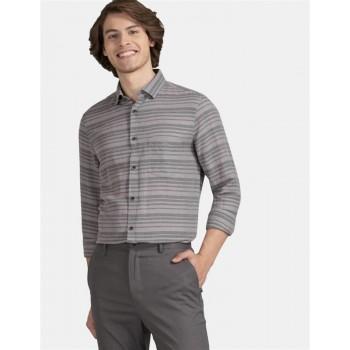 True Blue Men Casual Wear Dark Grey Shirt
