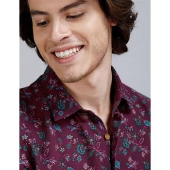 True Blue Men Casual Wear Purple Shirt