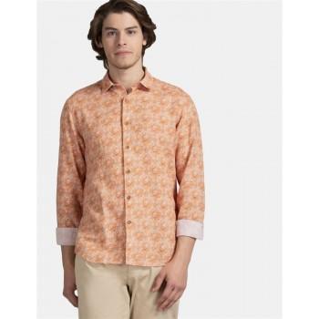 True Blue Men Casual Wear Orange Shirt