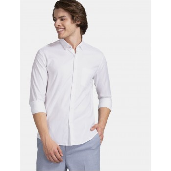 True Blue Men Party Wear White Shirt