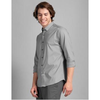 True Blue Men Casual Wear Grey Shirt