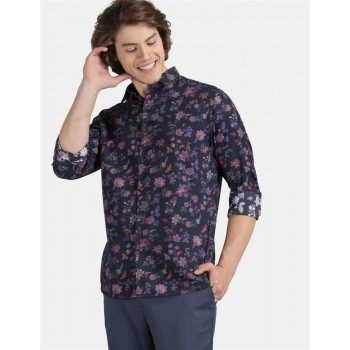 True Blue Men Casual Wear Multi-colour Shirt