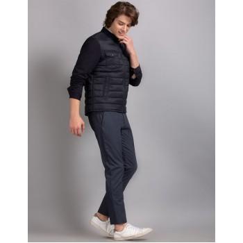 True Blue Men Casual Wear Navy Blue Casual Jacket
