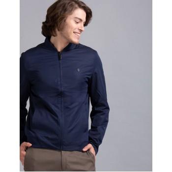 True Blue Men Casual Wear Blue Casual Jacket