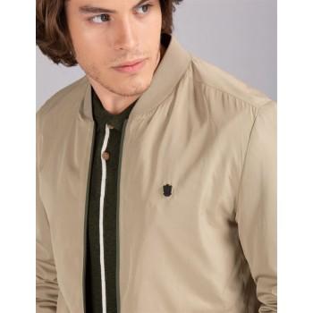 True Blue Men Casual Wear Beige Casual Jacket