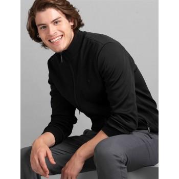 True Blue Men Casual Wear Black Casual Jacket