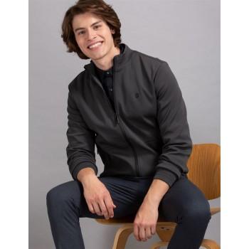 True Blue Men Casual Wear Dark Grey Casual Jacket