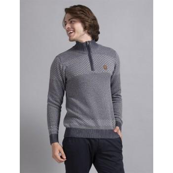 True Blue Men Casual Wear Blue Sweater