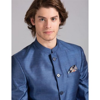 True Blue Men Party Wear Blue Blazer