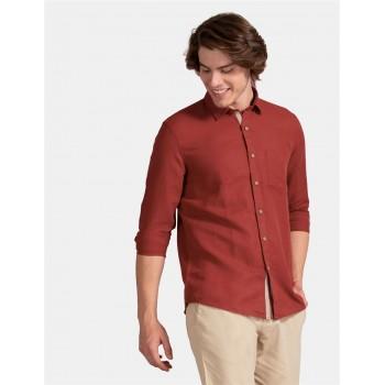 True Blue Men Casual Wear Brown Shirt