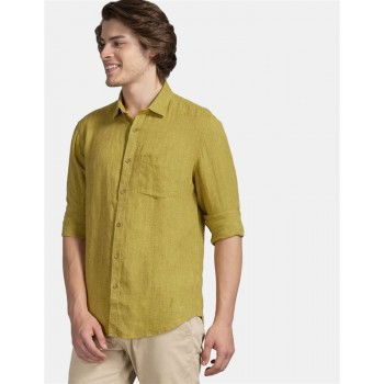 True Blue Men Casual Wear Green Shirt