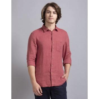 True Blue Men Casual Wear Pink Shirt