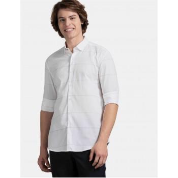 True Blue Men Casual Wear White Shirt