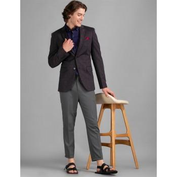 True Blue Men Casual Wear Purple Blazer