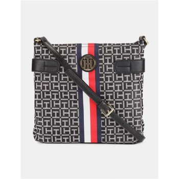 Tommy Hilfiger Women Black Sling Bag With 2 Compartment