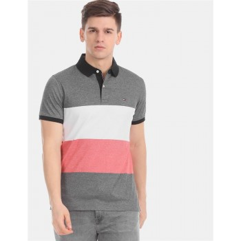 Tommy Hilfiger Men Multicolor Striped Casual T-Shirt