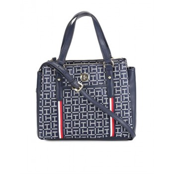 Tommy Hilfiger Women Blue Handheld Bag With 3 Compartment