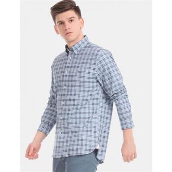 Tommy Hilfiger Men Blue Checkered Casual Shirt