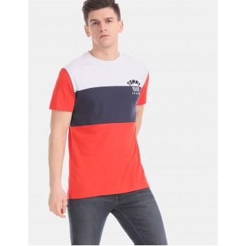 Tommy Hilfiger Men Multicolor Solid Casual T-Shirt