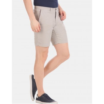 Tommy Hilfiger Men Casual Wear Grey Shorts
