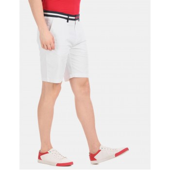 Tommy Hilfiger Men Casual Wear White Shorts
