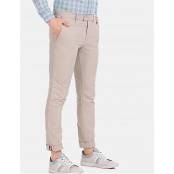 Tommy Hilfiger Men Casual Wear Beige Trousers
