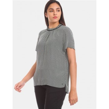 Tommy Hilfiger Women Black Printed Casual Top