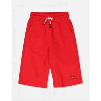 Tommy Hilfiger Boys Red Drawstring Waist Sweat Shorts