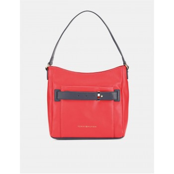 Tommy Hilfiger Women Red Shoulder Bag With 3 Compartment