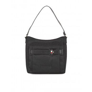 Tommy Hilfiger Women Black Sling Bag With 3 Compartment