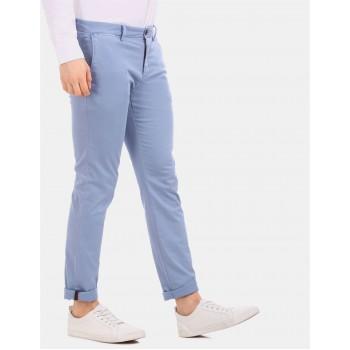 Tommy Hilfiger Men Casual Wear Blue Trousers