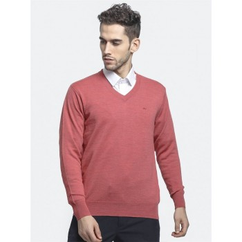 Monte Carlo Men's Casual Wear Peach Sweater