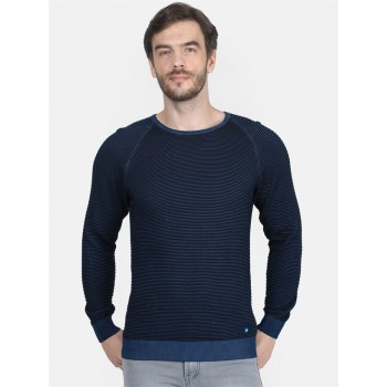 Monte Carlo Men's Casual Wear Navy Blue Sweater