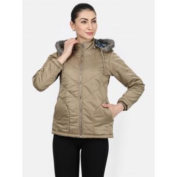 Monte Carlo Women Casual Wear  Brown Jacket