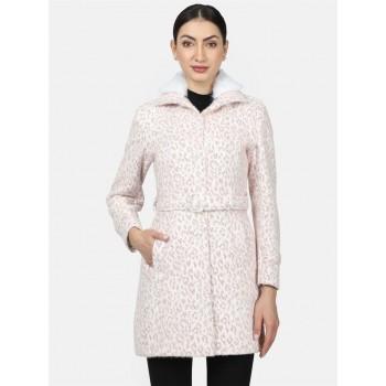 Monte Carlo Women Casual Wear  White Coat