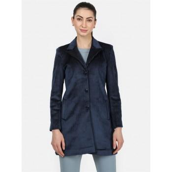 Monte Carlo Women Casual Wear  Navy Coat