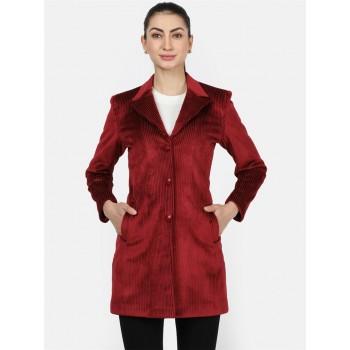 Monte Carlo Women Casual Wear  Maroon Coat