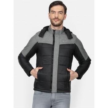 Monte Carlo Men's Casual Wear Black Puffer Jacket