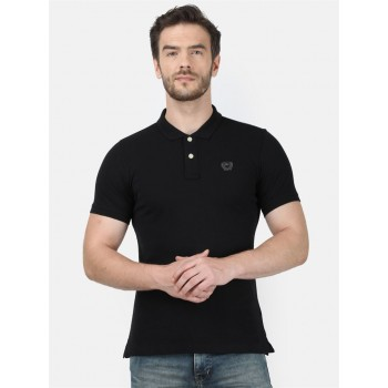 Monte Carlo Men Casual Wear Black Tshirt
