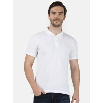 Monte Carlo Men Casual Wear White T-Shirt