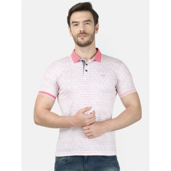 Monte Carlo Men Casual Wear Pink Tshirt