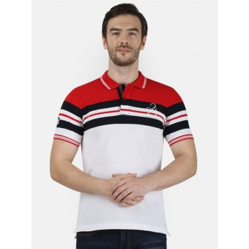 Monte Carlo Men Casual Wear Red T-Shirt