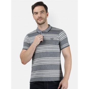 Monte Carlo Men Casual Wear Grey T-Shirt