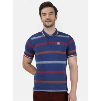 Monte Carlo Men Casual Wear Blue T-Shirt