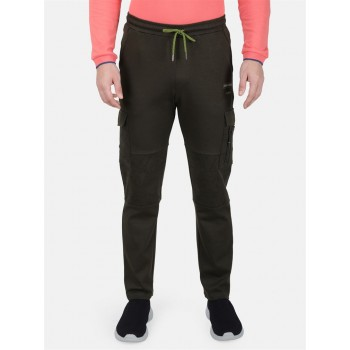 Monte Carlo Men Casual Wear Olive Track Pant